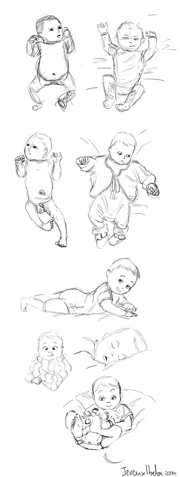 croquis bébé